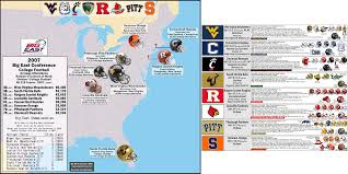 Virginia Tech Map Ncaa Fb Big East Billsportsmaps Com