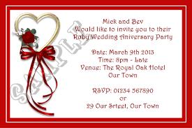Free E Wedding Invitation Cards Ruby Anniversary Invitation Cards Festival Tech Com
