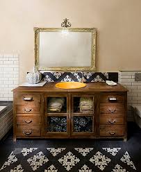 Black Distressed Bathroom Vanity by Diy Bathroom Vanity Plus Tile Flooring Rustic Bathroom Vanities