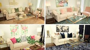 how to decorate a living room 4 different glam ways youtube