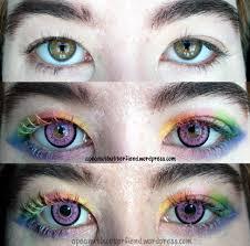 white contact lenses halloween rainbow eyebrows u2013 apeanutbutterfiend