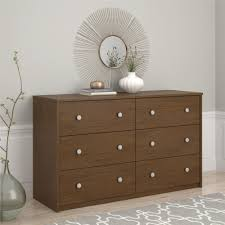 Belmont Home Decor by Essential Home Belmont 6 Drawer Dresser Walnut