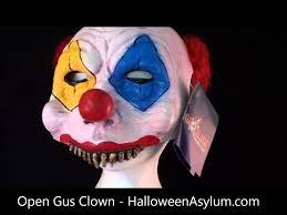 open gus clown mask halloweenasylum com youtube