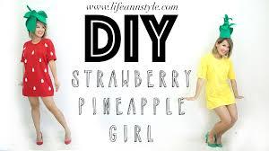 style halloween costumes diy strawberry pineapple halloween costume u2013 ann le style