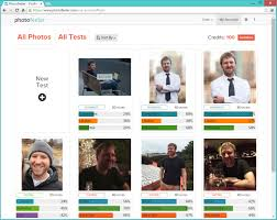 Photofeeler account page with business  social  and dating photo tests