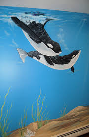 best 20 ocean mural ideas on pinterest teal bathroom furniture ocean mural in kids room oh my ree ree would love this