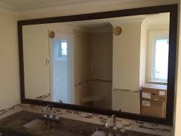 Bathroom Mirror Ideas On Wall Wood Frame Wall Mirror 126 Stunning Decor With Home Decoration