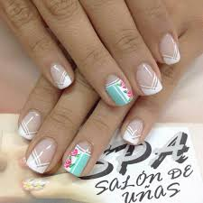 i like part of the white tip design nails pinterest manicure