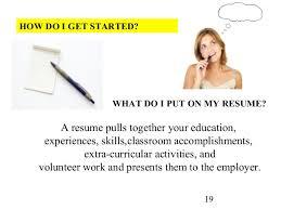 A resume pulls together