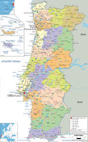 Detailed Map Of Germany by Maps Of Portugal Detailed Map Of Portugal In English Tourist
