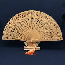 aromatic wood pocket folding hand fan elegant home decor party