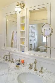 Mirrored Medicine Cabinet Doors by Love Some Many Elements In This Pic Built In Cabinets W Cute