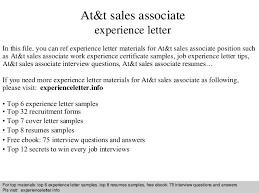 At amp t sales associate experience letter SlideShare At amp t sales associate experience letter In this file  you can ref experience letter materials for