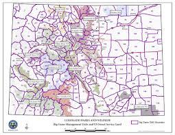 Southern Colorado Map by Colorado Parks U0026 Wildlife U S Forest Service Contact Information
