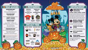 Printable Map Of Disney World Photos Mickey U0027s Not So Scary Halloween Party 2015 Guide Map