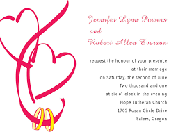 Invitation Card Store Hearts In Ribbon Wedding Invitations Int070 Int070 0 00