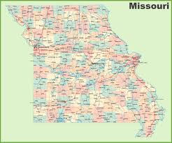 Large Map Of Usa by Road Map Of Missouri With Cities