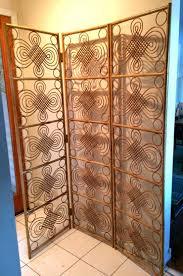 folding room dividers vintage mid century modern bamboo screen