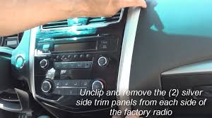 nissan altima 2015 updates remove factory stereo altima 2013 2014 youtube