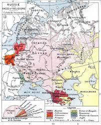 Map Of 1914 Europe by Ethnic Map Of European Russia Before The First World War 486x599