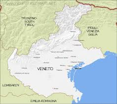 Italy Region Map by Veneto Physical Map