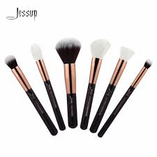 jessup black rose gold professional makeup brushes set make up