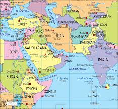 Physical Map Of Africa by This Is A Physical Map Of The Middle East It Shows Us The Main