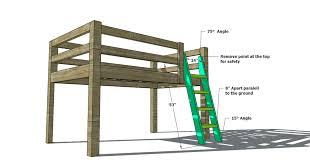 Wood Bunk Beds Plans by Free Woodworking Plans To Build A Full Sized Low Loft Bunk The