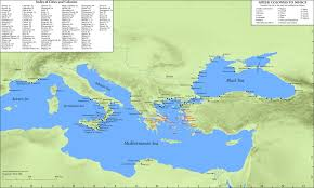 G Map Map Greek Colonies To 500 Bce Oxford Classical Dictionary