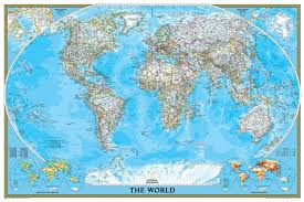 World Map Pinboard by National Geographic World Classic Map