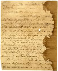Paper With Writing Letter From Anthony Wayne To Mordecai Gist Page 1 Of 3 Flickr