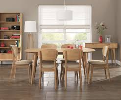 Retro Dining Room Set Orbit Oak Retro Dining Table And Chairs