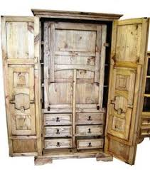 Chuck Wagon Armoire With FoldOut Table And Benches - Dining room armoire
