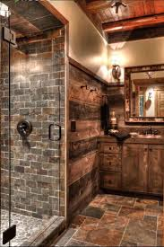 bathroom design calm rustic bathroom plaid brown frosted ceramic