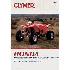 clymer honda trx250r fourtrax 250r u0026 atc 250r 1985 1989 honda