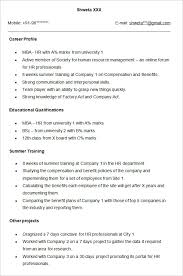 Resume Job Profile by Attractive Inspiration Ideas Sample Hr Resume 16 Hr Assistant Cv