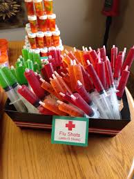 probably the biggest hit at the party jell o shots in syringes