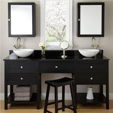 Mirrored Medicine Cabinet Doors by Beauty Double Sink Vanity Makeup Area With Mirrored Medicine