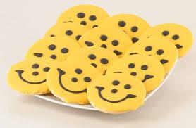 steelers cookies black and gold smiley cookies