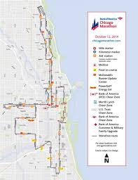 Chicago Ord Terminal Map by Chicago Marathon Map Chicago Marathon Race Map United States Of