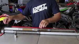 diy how to change fork seals open chamber youtube