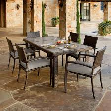 Costco In Store Patio Furniture - portofino 7 piece dining set in espresso taupe