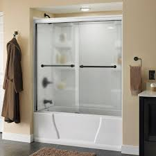 Interior Frameless Glass Door by Frosted Shower Doors Showers The Home Depot