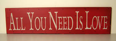 vintage stlye red and white slogan wooden wall plaque hanging sign
