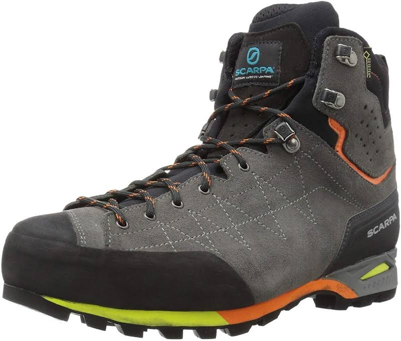 Scarpa Zodiac Plus GTX Backpacking Boots Shark/Orange Medium 41 71110/200.1-SrkOrg-41