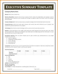 Summary Sample Resume by Executive Summary Resume Examples