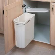 kitchen organization u2013 swing out cabinet trash can u2013 under sink