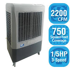 How Many Square Feet Is A 1 Car Garage Hessaire 2 200 Cfm 3 Speed Portable Evaporative Cooler For 750 Sq