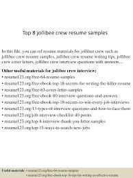 What To Put As An Objective On A Resume Top8jollibeecrewresumesamples 150723081958 Lva1 App6891 Thumbnail 4 Jpg Cb U003d1437639644