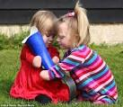 Two little friends... united by courage: Amputee victims forge